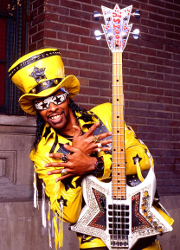 Bootsy Collins with bass guitar